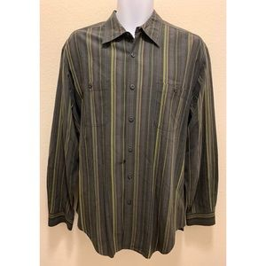 Tommy Bahama Long Sleeve Shirt 75% Silk Black L